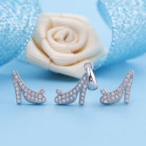 Bộ trang sức bạc Shoes Love