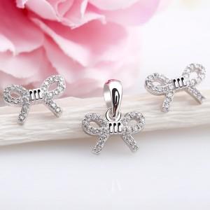 Bộ trang sức bạc Simple Bow
