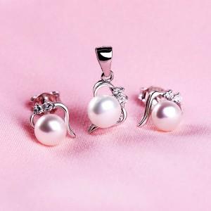 Bộ trang sức bạc Simply Pearl