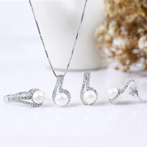 Bộ trang sức bạc Six Pearl