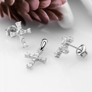 Bộ trang sức bạc Strong Cross
