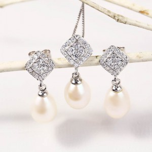 Bộ trang sức bạc Sweet Love Pearl