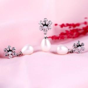 Bộ trang sức bạc Teardrop Pearl