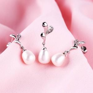 Bộ trang sức bạc The Teardrop Pearls