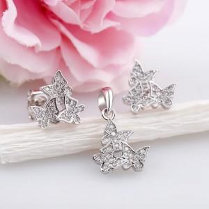 Bộ trang sức bạc Three Butterfly