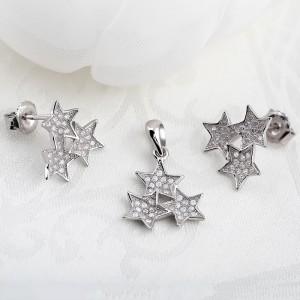 Bộ trang sức bạc Three Star