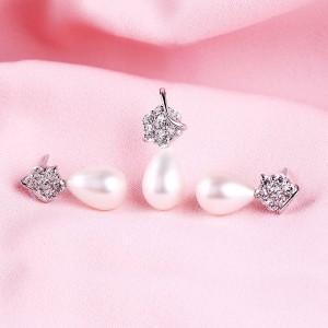 Bộ trang sức bạc Twinkle Pearl