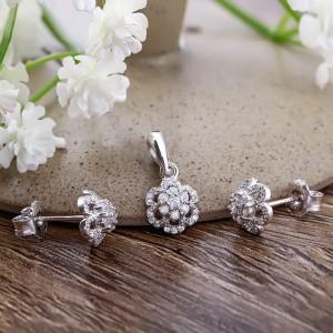Bộ trang sức bạc Violin Flower