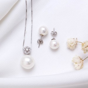 Bộ trang sức bạc White Pearl