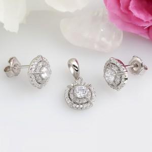 Bộ trang sức bạc Zan Circle
