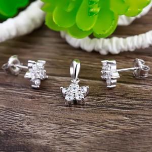Bộ trang sức bạc Star Flower