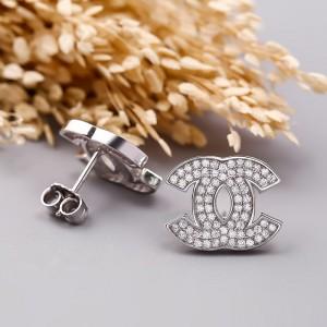 Bông tai bạc Alfan Chanel