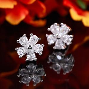 Bông tai bạc Christian Flowers