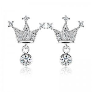 Bông tai bạc Ela Crown