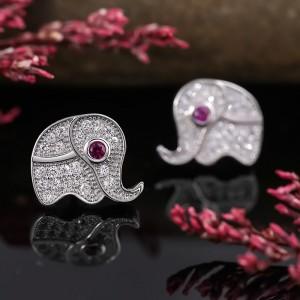 Bông tai bạc Elephant
