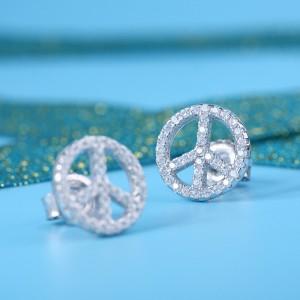Bông tai bạc Gemstone Circle