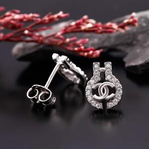 Bông tai bạc Jelly Chanel