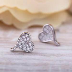 Bông tai bạc Lisa Heart