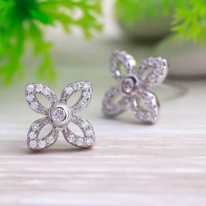 Bông tai bạc Loha Flower