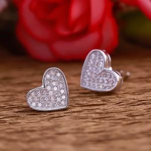 Bông tai bạc Momin Heart