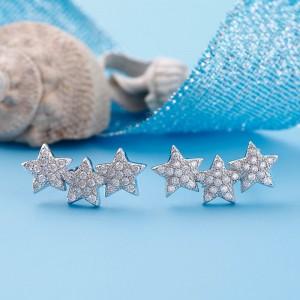 Bông tai bạc Star And Star