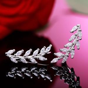 Bông tai bạc Tiny Leaf