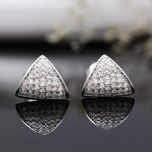 Bông tai bạc Triangular