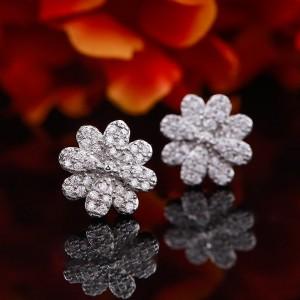 Bông tai bạc Xumi Flower