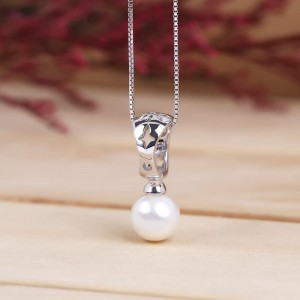 Dây chuyền bạc Basic Pearl