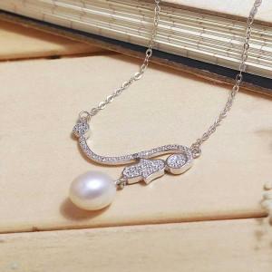Dây chuyền bạc Girl and Pearl