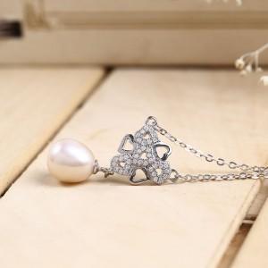 Dây chuyền bạc Pearl In Heart