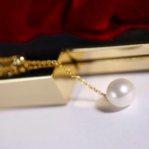 Dây chuyền vàng 18k ngọc trai thật 8-8.5mm Duo