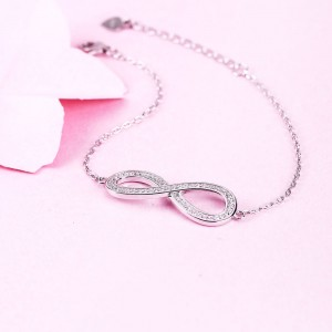 Lắc tay bạc Infinity