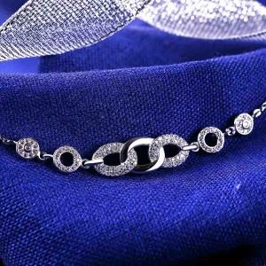 Lắc tay bạc Luxurious