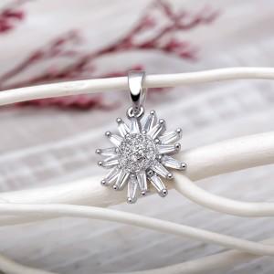 Mặt dây chuyền bạc Lilyn Flower