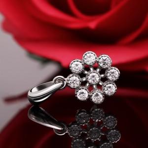 Mặt dây chuyền bạc Mint Flower