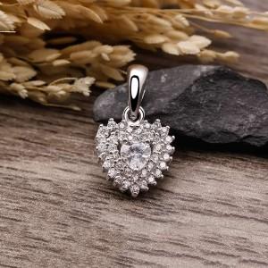 Mặt dây chuyền bạc Selena Heart