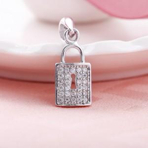 Mặt dây chuyền bạc Shine Lock