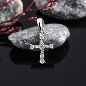 Mặt dây chuyền bạc Strong Cross