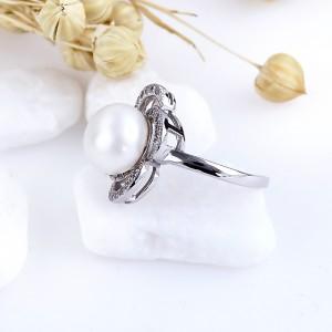 Nhẫn bạc Bastet Pearl