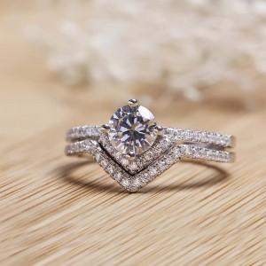 Nhẫn bạc Edna Love