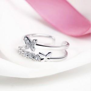 Nhẫn bạc Emily Butterfly