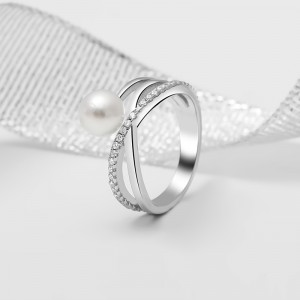 Nhẫn bạc Esther Pearl