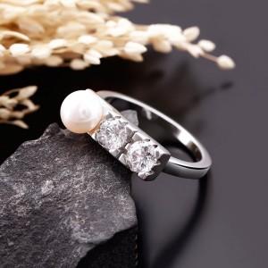 Nhẫn bạc Everlasting Pearl