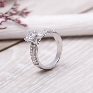 Nhẫn bạc Flora