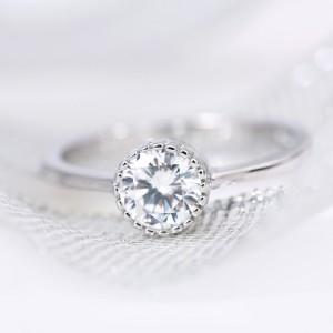 Nhẫn bạc Louisa