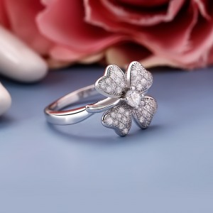 Nhẫn bạc Lucky Grass