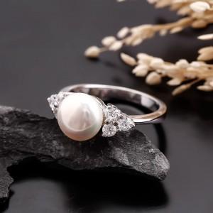 Nhẫn bạc ngọc trai Balor