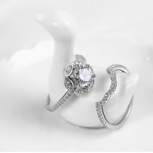 Nhẫn bạc Saphiara Like
