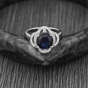 Nhẫn bạc Shapphire Perfect